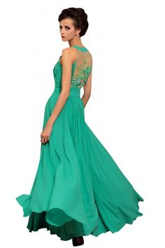 Amazon.com: Kingmalls Womens Lotus leaf green tulle embroidery formal Crystal Gown Dresses: Clothing