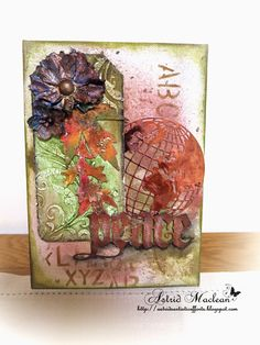 Shimmerz Paints: Autumnal peace a canvas with Astrid