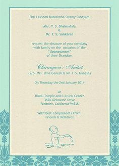 20 Best Upanayana Images Invitation Cards Invites Wedding Cards