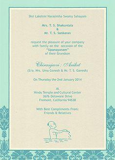 Thread Ceremony invitation | Janoi | Pinterest ...