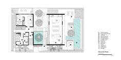 Gallery of Naman Residences - Villa B / MIA Design Studio - 14 Craftsman Floor Plans, Modern Villa Design, Casa Patio, Courtyard House Plans, Villa Plan, Garden Villa, House Plans One Story, Luxury House Plans, Ground Floor Plan