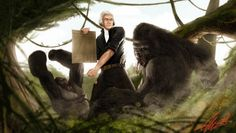 Thomas Jefferson vs Gorilla.  Happy birthday, USA!