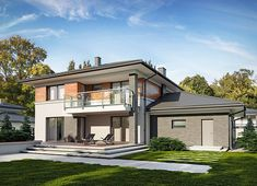 Projekt domu Kleo 185,06 m² - koszt budowy - EXTRADOM 4 Bedroom House Designs, Modern Architecture House, Rio 2, House Floor Plans, Home Fashion, New Homes, Construction, Exterior, How To Plan