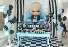 59 Ideas Birthday Party Boy Themes 2 Year Old 1st Birthday Boy Themes, 2 Year Old Birthday Party, Boss Birthday, Baby Boy 1st Birthday Party, Baby Party, Happy Birthday, Birthday Presents For Teens, Baby Girl Shower Themes, Boss Baby