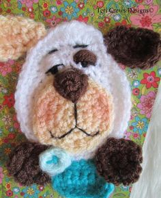 Dog Applique Crochet Pattern pattern on Craftsy.com