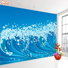 ShineHome-Blue Sea  3d Wallpaper for Walls 3 d Wallpapers for Livingroom Kids 3 d Mural Roll Room Bar Background #Affiliate