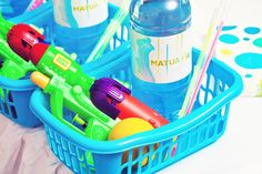 Favors from a Swimming Party #swimparty #favors