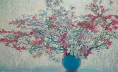 """""""White and Pink Dogwood,"""" Jane Peterson, oil on canvas, 42 x 68"""", private collection."""