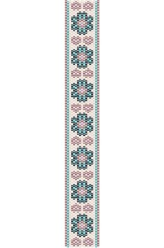 Flowers and Hearts bracelet peyote pattern