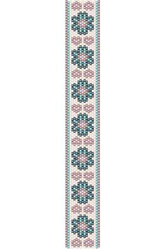 Flowers and Hearts bracelet peyote pattern