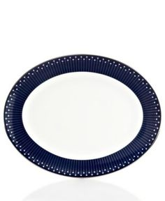 kate spade new york Dinnerware Mercer Drive Platinum Oval Platter.jpg