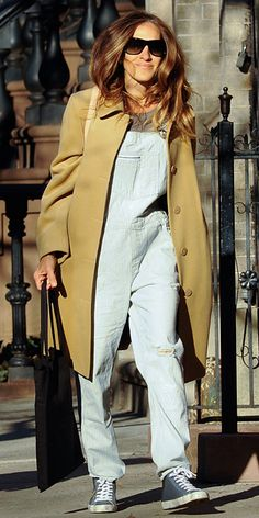 Trend Alert: Celebrities in Overalls - Sarah Jessica Parker from #InStyle