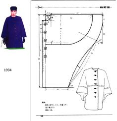 1994: cape pattern. Coat Patterns, Dress Sewing Patterns, Clothing Patterns, Cape Pattern, Jacket Pattern, Pattern Cutting, Pattern Making, Modelista, Make Your Own Clothes