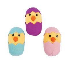 Plush Easter Chicks In Eggs - OrientalTrading.com