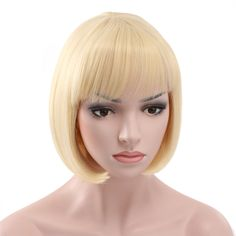 """10"""" Short Straight Flapper Bob Heat Friendly Cosplay Party Costume Hair Wig"""
