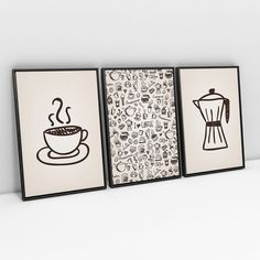 I Love Coffee, Diy And Crafts, Lettering, Inspiration, Marker, Home Decor, Room Pictures, Wall Of Frames, Paper Frames