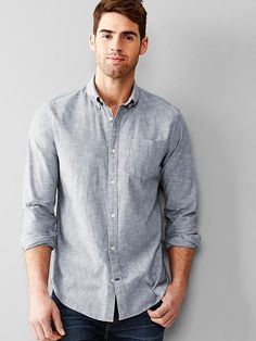 Clean chambray shirt Product Image