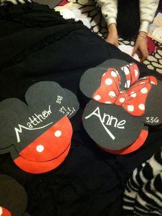 Mickey and Minnie door decs I made :)