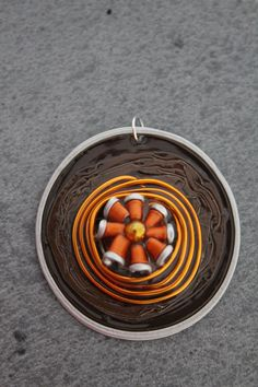 Pendentif Nespresso Chocolat Orange