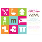 around the house bridal shower invitations 29898