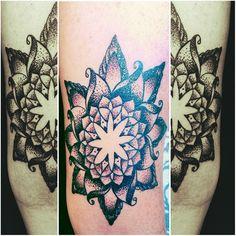 Blackwork; dotwork; mandala; tattoo by Johnny Jinx at Broken Clover in Tucson, AZ