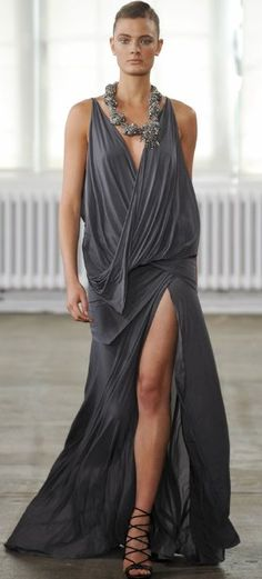 Another take on the goddess style dress. From the Donna Karan Resort 2011 Runway Show