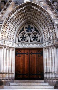 Calvary Methodist Church in Allegheny West is famous for its Tiffany windows, some of the greatest works of the Tiffany studios. Even if it didn't have those windows, though, it might still be famous for this doorway.