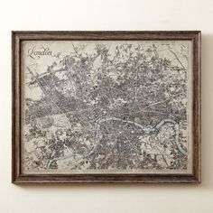 Sepia London Map Framed Print #birchlane