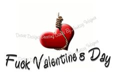 Fuck Valentine's Day Adult Humouous by AnnKayGreetingCards on Etsy, $5.50