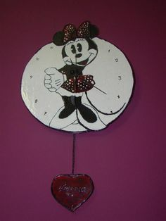 Minnie stained glass clock