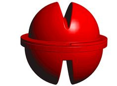 A rotating red warning ball, we can see it from all angles.