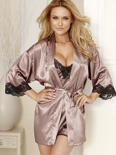 Romance in silk satin robe