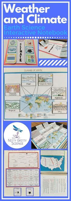 """The Earth Science Interactive Notebook: Weather and Climate chapter will never leave students feeling """"cloudy"""" about their lessons. Each chapter in the series will showcase many activities for the students to process the information given by the teacher then allow them to use self-direction to apply their new knowledge. The engaging activities always vary to enable all students to use and benefit from different learning styles."""