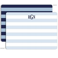 Personalized Rugby Blues Stationery