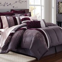 Bedroom Ideas Plum black and white and purple bedroom ideas for teens | grey and