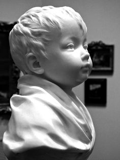 Sculpted by the Century French Artist Jean-Antoine Houdon of His One Year Old Daughter Claudine Sculpture Head, Human Sculpture, Greek Statues, Buddha Statues, Stone Statues, Anatomy Sculpture, Art Visage, French Artists, Portrait