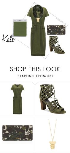"""""""Pantone Kale"""" by evolveyourimage ❤ liked on Polyvore featuring G by Guess, Henri Bendel and Gorjana"""