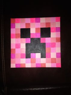 Minecraft Creeper for Hadley's room that I painted on canvas. Super easy and great for a girl that loves Minecraft.