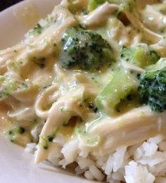 Recipe For Crockpot Cheesy Chicken and Broccoli over Rice - All I have to say is WOW! This recipe was SO easy to make.