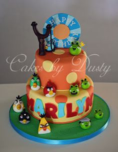 Cakes by Dusty: Marilyn's Angry Birds Cake