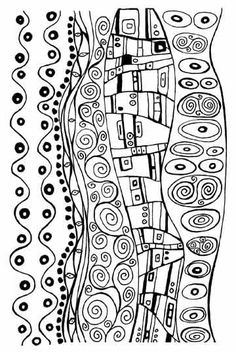 zeichnungen altered art rubber stamp sheet Klimt design by Barbara McGuire for polymer, clay and crafts Gustav Klimt, Art Klimt, Art Altéré, Motif Art Deco, Clay Stamps, Fabric Stamping, Rubber Stamping, Zentangle Patterns, Art Plastique
