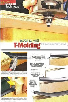 Edging with T-Molding - Edging Tips, Jigs and Techniques | WoodArchivist.com