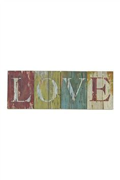 All you need is love! This distressed painted wooden piece of wall art from Next adds some rustic romance to any bedroom or living room for only £16!