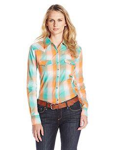 Wrangler Women's Ultimate Riding Long Performance Sleeve Woven Shirt, Orange/Turquoise, X-Small Wrangler http://www.amazon.com/dp/B00XJF5OF4/ref=cm_sw_r_pi_dp_cFthwb1JA5PAJ
