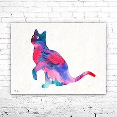 Cat 3 Watercolor Print, Fine Art Print, cat Art, Home Decor, cat watercolor, watercolor painting, watercolor animal, cat poster. Cat 3 Watercolor Print, Fine Art Print, cat Art, Home Decor, cat watercolor, watercolor painting, watercolor animal, cat poster My prints are made in my own art studio by me, using Epson Pigment Inks, which are tested and guaranteed not to fade for at least 100+ years and fine art watercolor paper. I use Epson best wide format printers! If you are interested in...