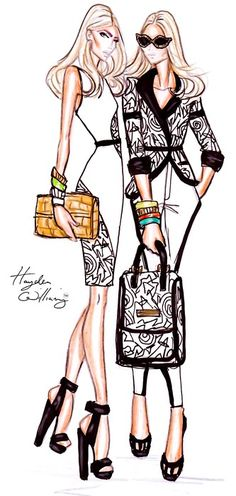Hayden Williams Fashion Illustrations - body language between croquis Arte Fashion, Moda Fashion, New Fashion, Trendy Fashion, Girl Fashion, Fashion Show, Fashion Black, Fashion Pics, Fashion Trends