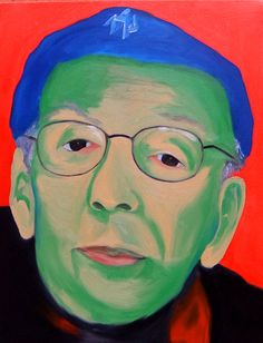 """Taylor Mead (Andy Warhol's Superstar)  Oil on canvas 18"""" X 20"""""""