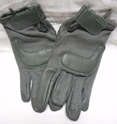 GOATSKIN & KEVLAR COMBAT GLOVES, NEW WITHOUT PACKAGE, X-LARGE