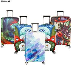 Travel Suitcase Covers Luggage Protector Cover Spandex Elastic Protectors for 18-32 inch Trolley Case