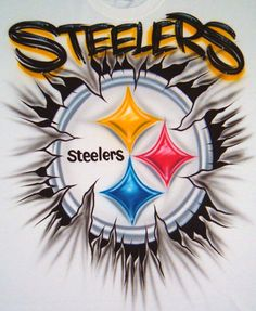 Custom Airbrush T Shirt Steelers Football Team by BizzeeAirbrush, $20.99